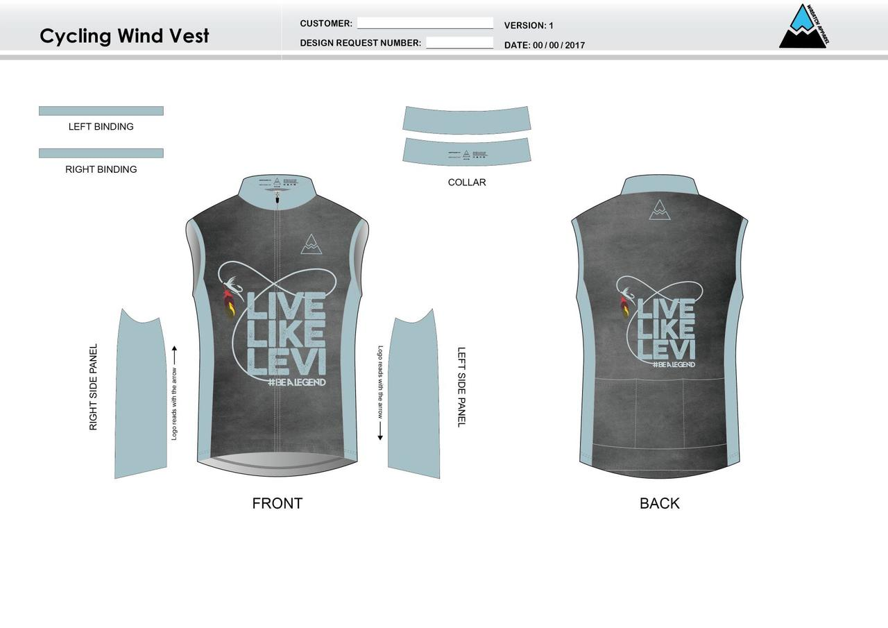 Be A Legend Cycling Wind Vest - Wasatch Apparel 87d532e21