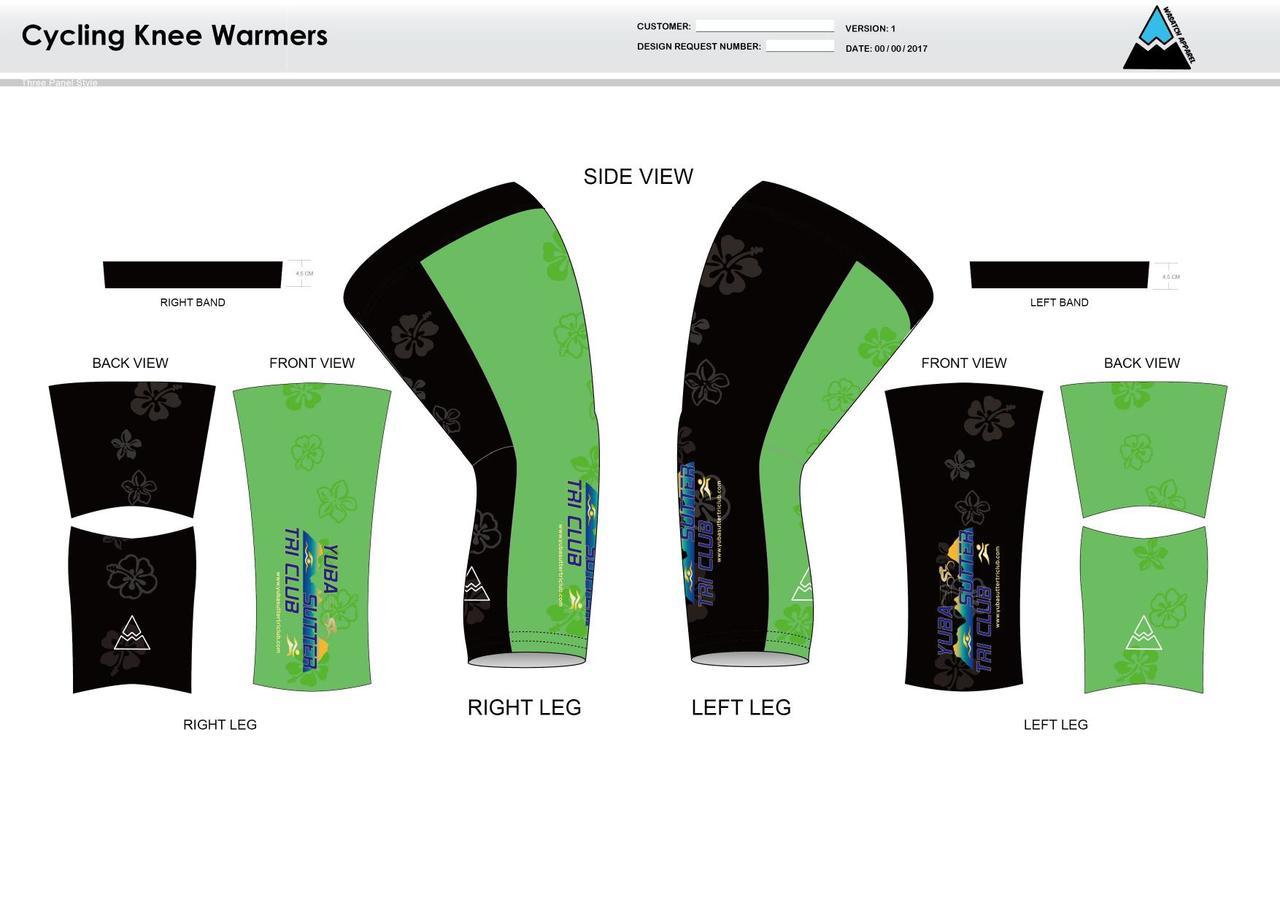 Yuba Sutter Cycling Knee Sleeves