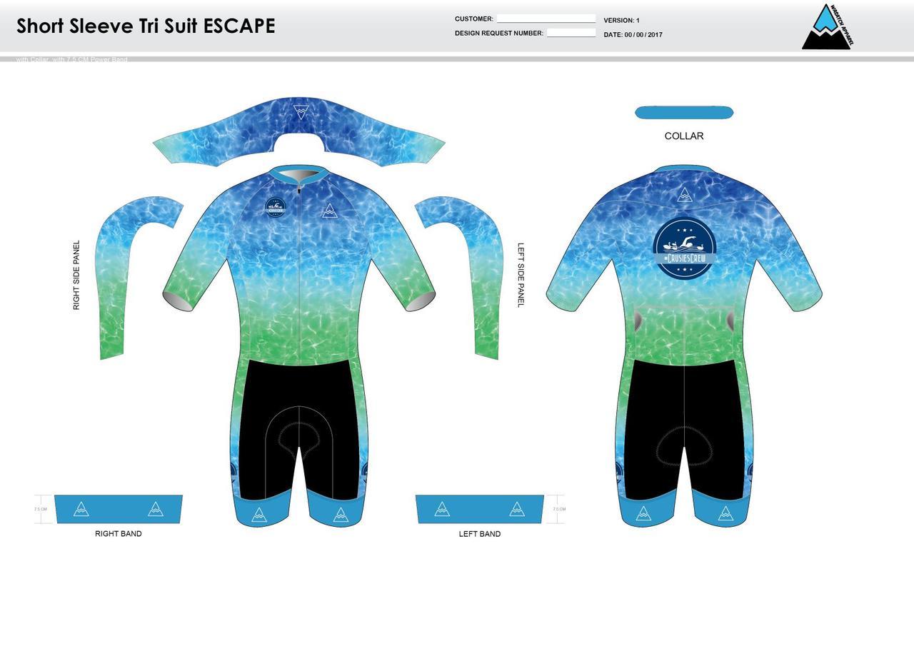 Crusies Crew ESCAPE Short Sleeve Tri Suit