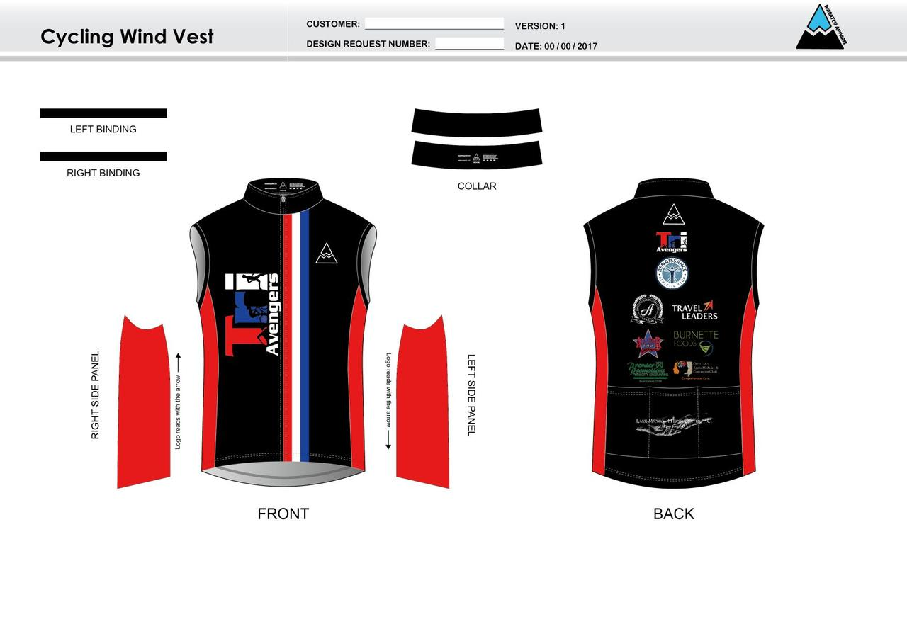 Tri Avengers Cycling Wind Vest - Wasatch Apparel 1536cefce