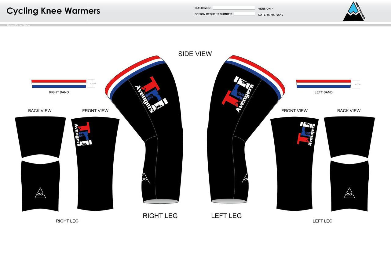 Tri Avengers Cycling Knee Sleeves - Wasatch Apparel a4f804fb2