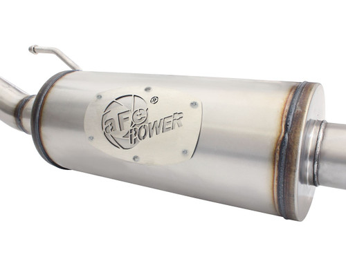 "aFe POWER 49-48057 MACH Force-Xp 2-1/2"" 409 Stainless Steel Cat-Back Exhaust w/ 18in Muffler"