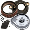 S&S Mini Teardrop Stealth Air Cleaner Kit for 2017-2020 Harley M8 - Chrome