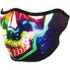 Zan Headgear Neon Skull Half Face Mask