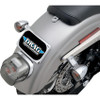 Drag Specialties Small Radius License Plate Mount for Harley - Chrome