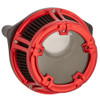 Arlen Ness Method Clear Series Air Cleaner for 2017-2020 Harley M8 - Red