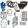 "S&S 128"" Power Pack Kit Chain Drive Water Cooled for 117"" Harley M8 - Granite and Chrome Pushrod Tubes"