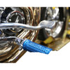 Thrashin Supply Burnout Foot Pegs for Harley - Blue