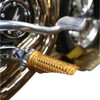 Thrashin Supply Burnout Foot Pegs for Harley - Gold