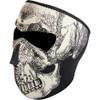 Zan Headgear Black & White Glow in the Dark Skull Face Mask