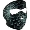 Zan Headgear Glow in the Dark Spiderweb Face Mask