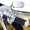 Arlen Ness Mini Oval Micro Mirrors - Chrome