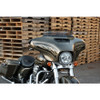 Memphis Shades Holes Stainless Steel Windshield Trim for Harley Touring