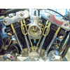 Old-Stf Pushrod Tube Keepers Clips for Harley - Brass