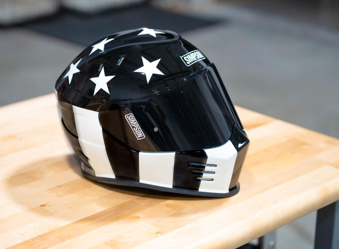 Limited Edition Simpson Ghost Bandit Aurora Helmet