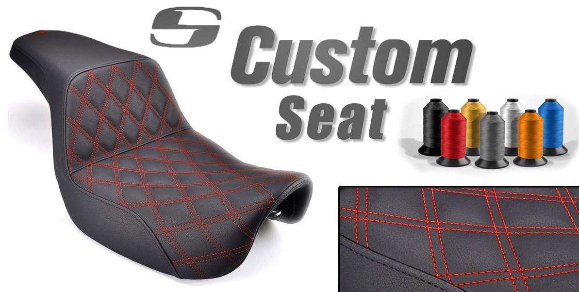 Custom Saddlemen Step Up Seat Options for your Harley