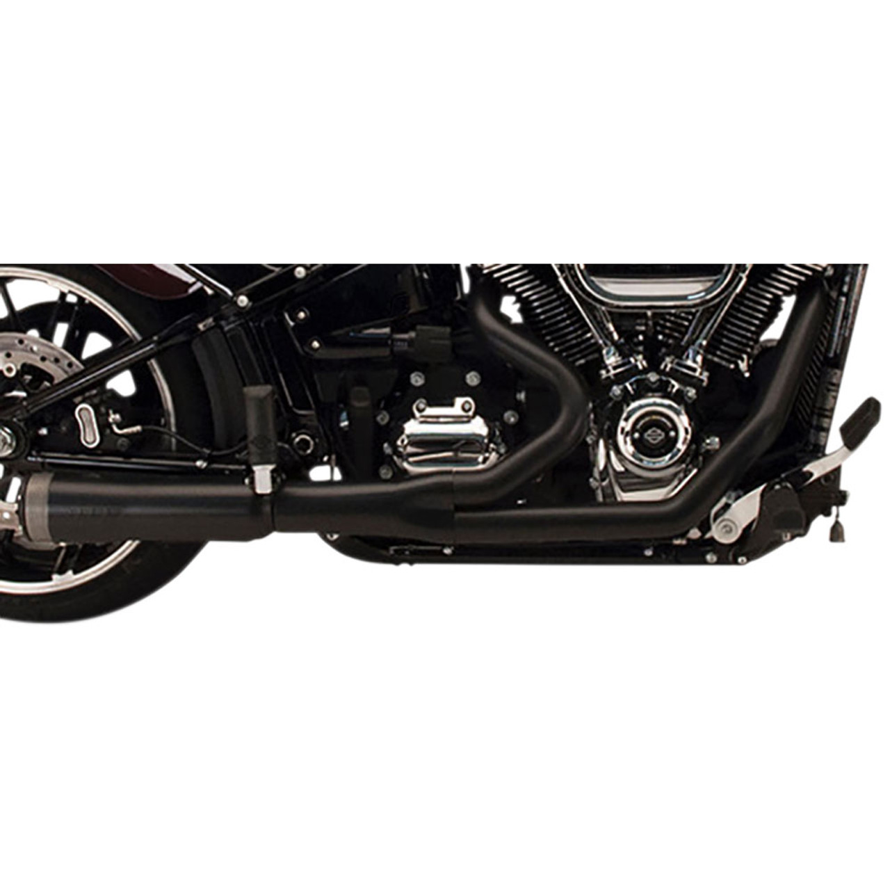 Supertrapp 2 Into 1 Fatshot Exhaust For 2006 2011 Harley Dyna Black 827 74690 Get Lowered Cycles