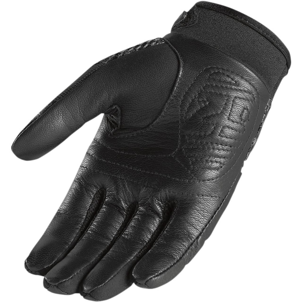 New Mens Icon Twenty-Niner//29er CE BLACK Motorcycle Street Bike Gloves ALL SIZES