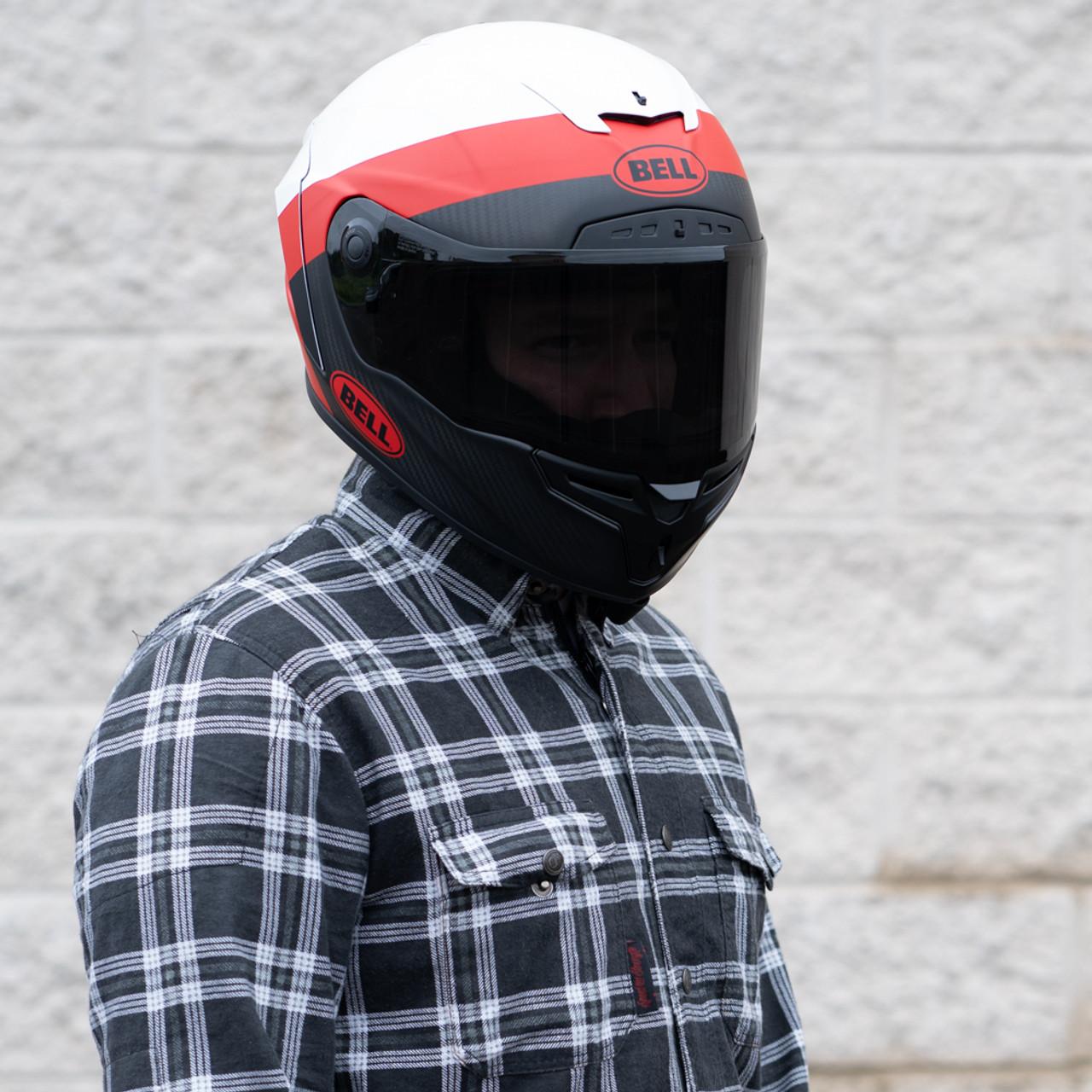 63e3bc89 Bell Race Star Flex DLX Surge Matte/Gloss White/Red Helmet - Get ...
