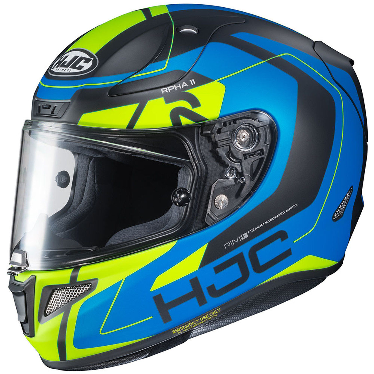 Hjc Rpha 11 >> Hjc Rpha 11 Pro Chakri Blue Yellow Helmet Get Lowered Cycles