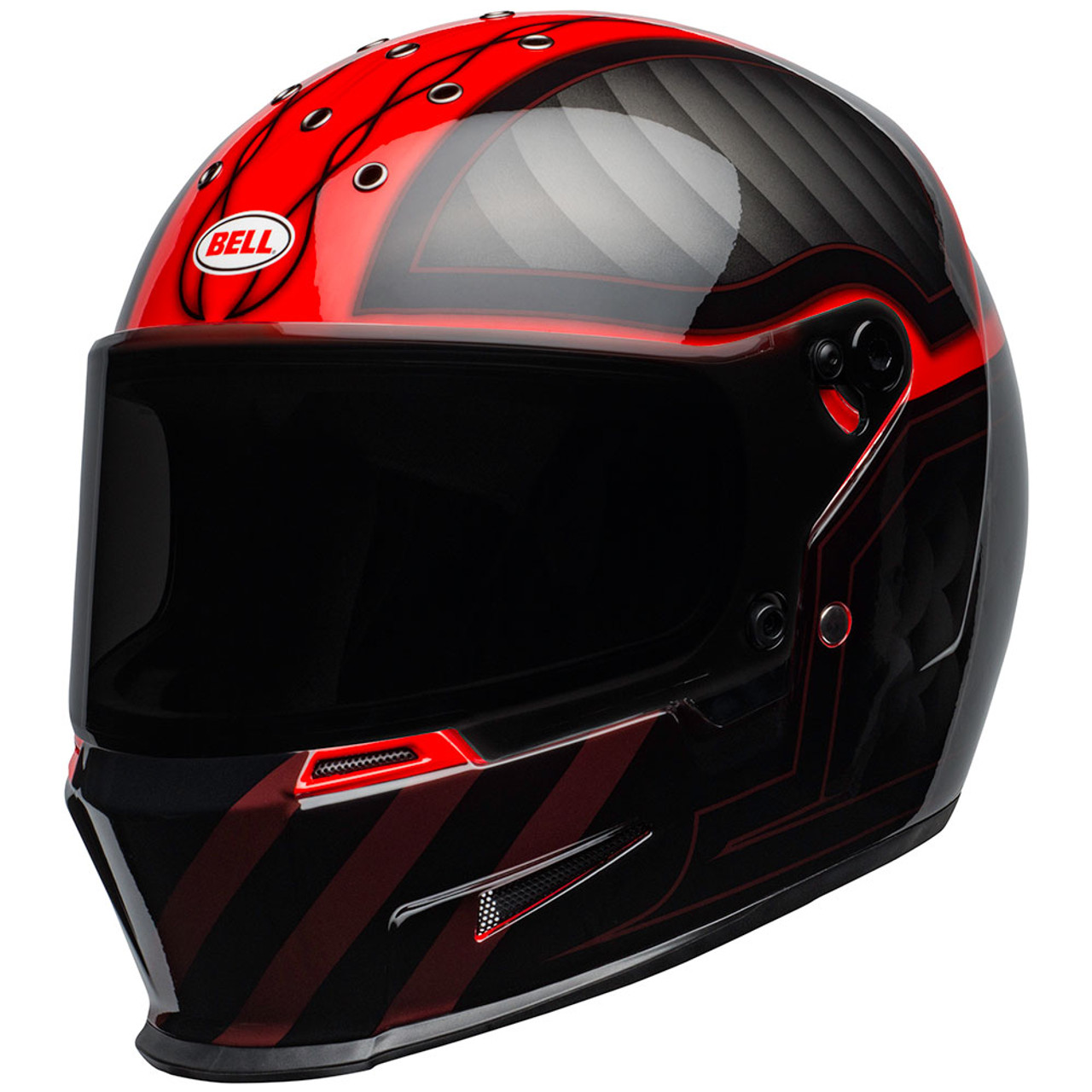 Bell Eliminator Outlaw Gloss Black Red Helmet - Get Lowered Cycles 545c2841ccae8