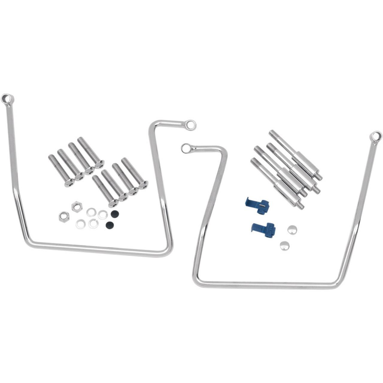 Drag Specialties Chrome Saddlebag Support Brackets- Get