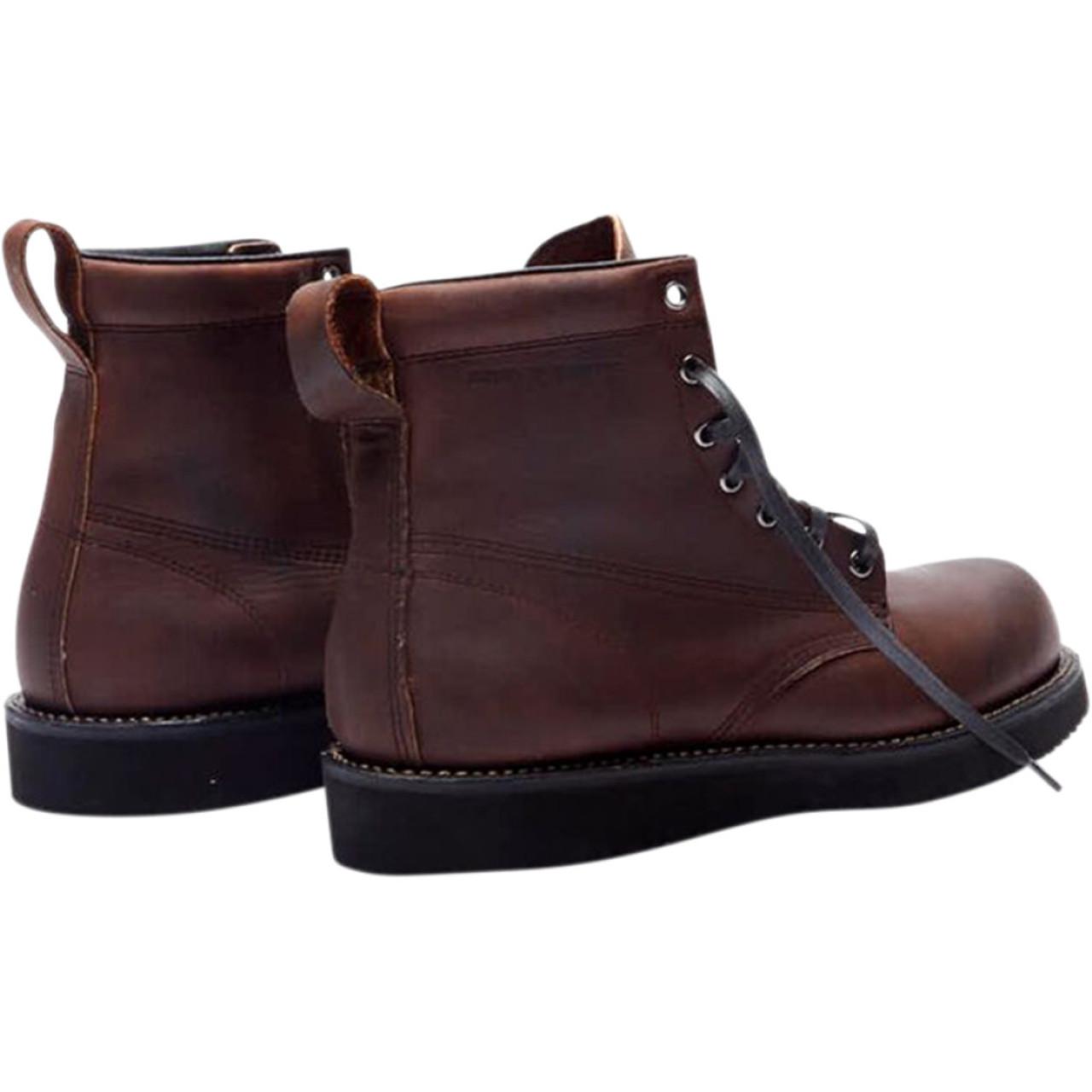 2af23e9589621 Broken Homme James Leather Boots - Oxblood Red