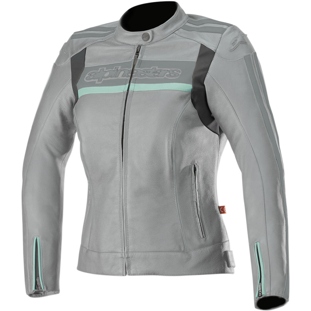 233973017cdc5 Alpinestars Dyno v2 Women s Aqua Gray Leather Jacket - Get Lowered Cycles