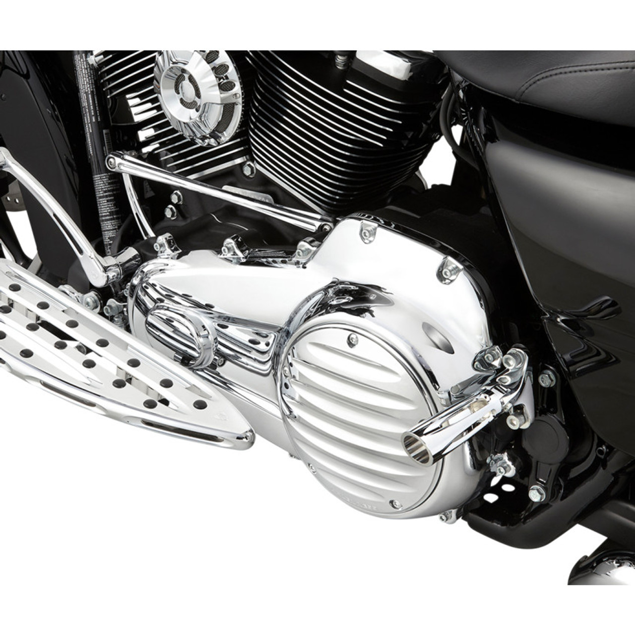 Drag Specialties Chrome Derby Cover for 1999-2018 Harley Big Twin