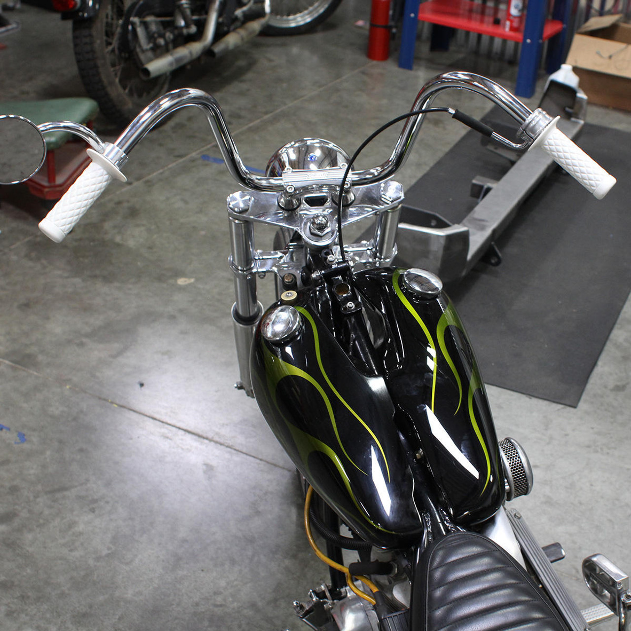 "White Biltwell Inc Thruster TPV 1/"" Motorcycle Grips"
