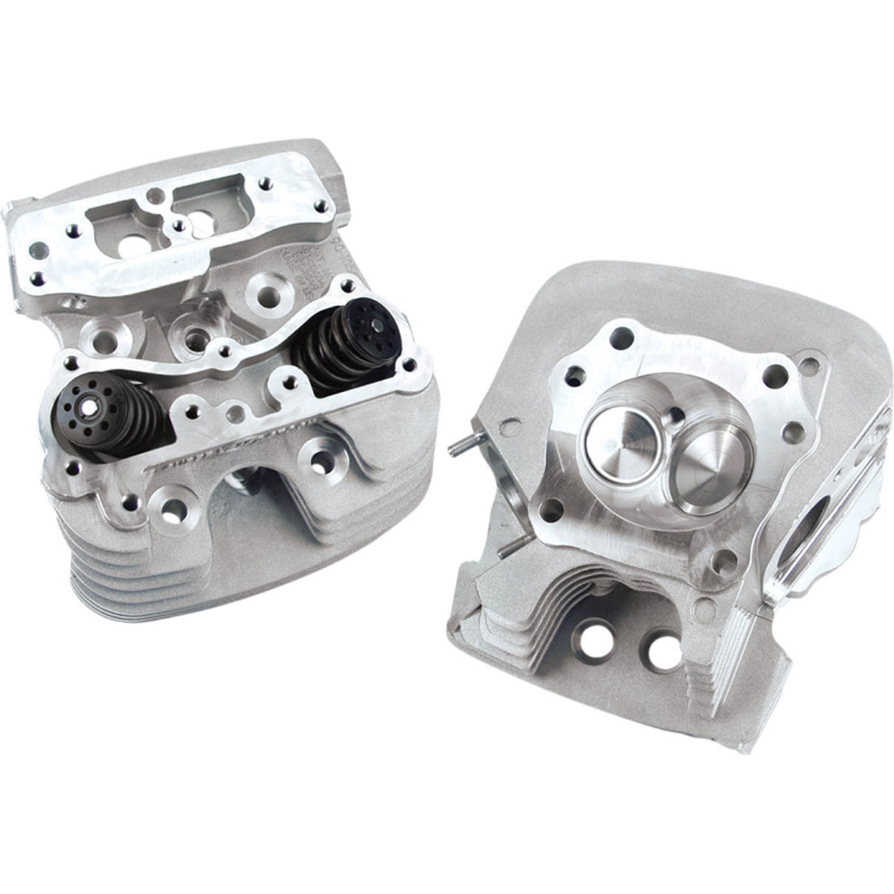 S&S Super Stock 79cc Cylinder Heads for 2006-2017 Harley Twin Cam - Silver