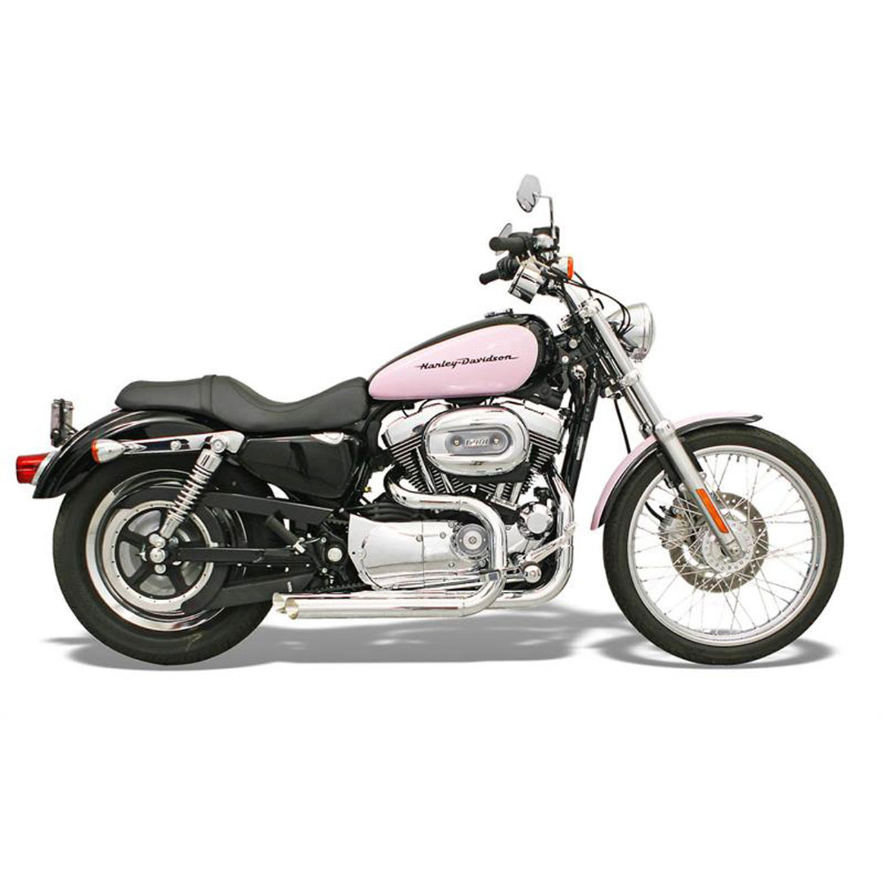 Bassani Pro Street Exhaust For 1986 2003 Harley Sportster With Forwards Chrome Xl 325f Get Lowered Cycles