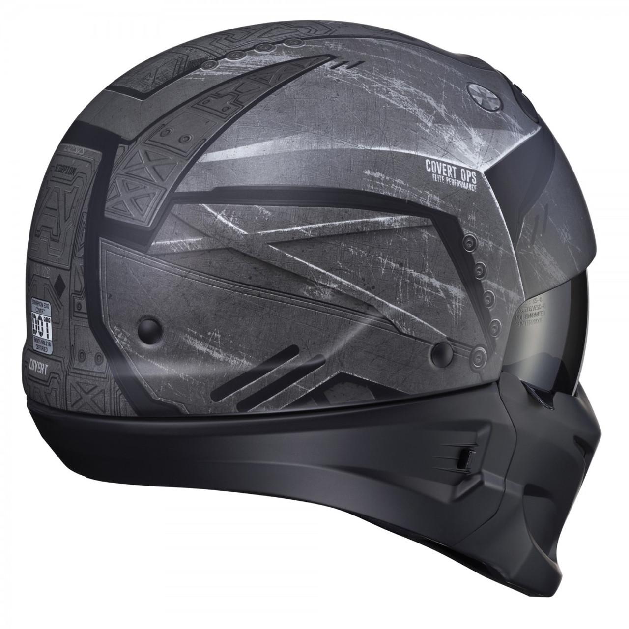 9bf4116b Scorpion Covert Incursion Phantom Motorcycle Helmet - Get Lowered Cycles