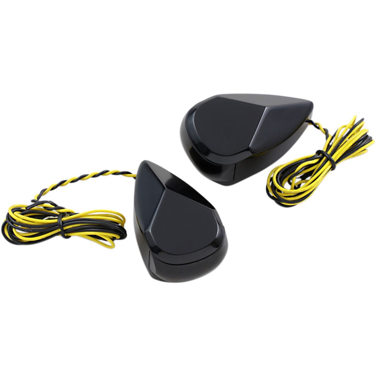 Alloy Art LED Turn Signal Lights for Harley Touring - Black