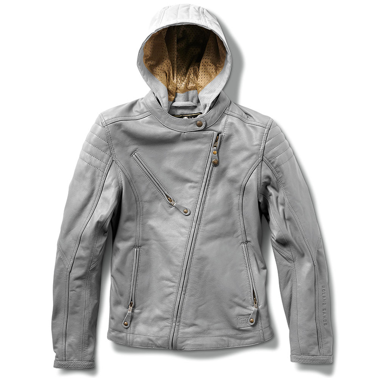 Pleasant Roland Sands Womens Mia Leather Jacket Grey Alphanode Cool Chair Designs And Ideas Alphanodeonline