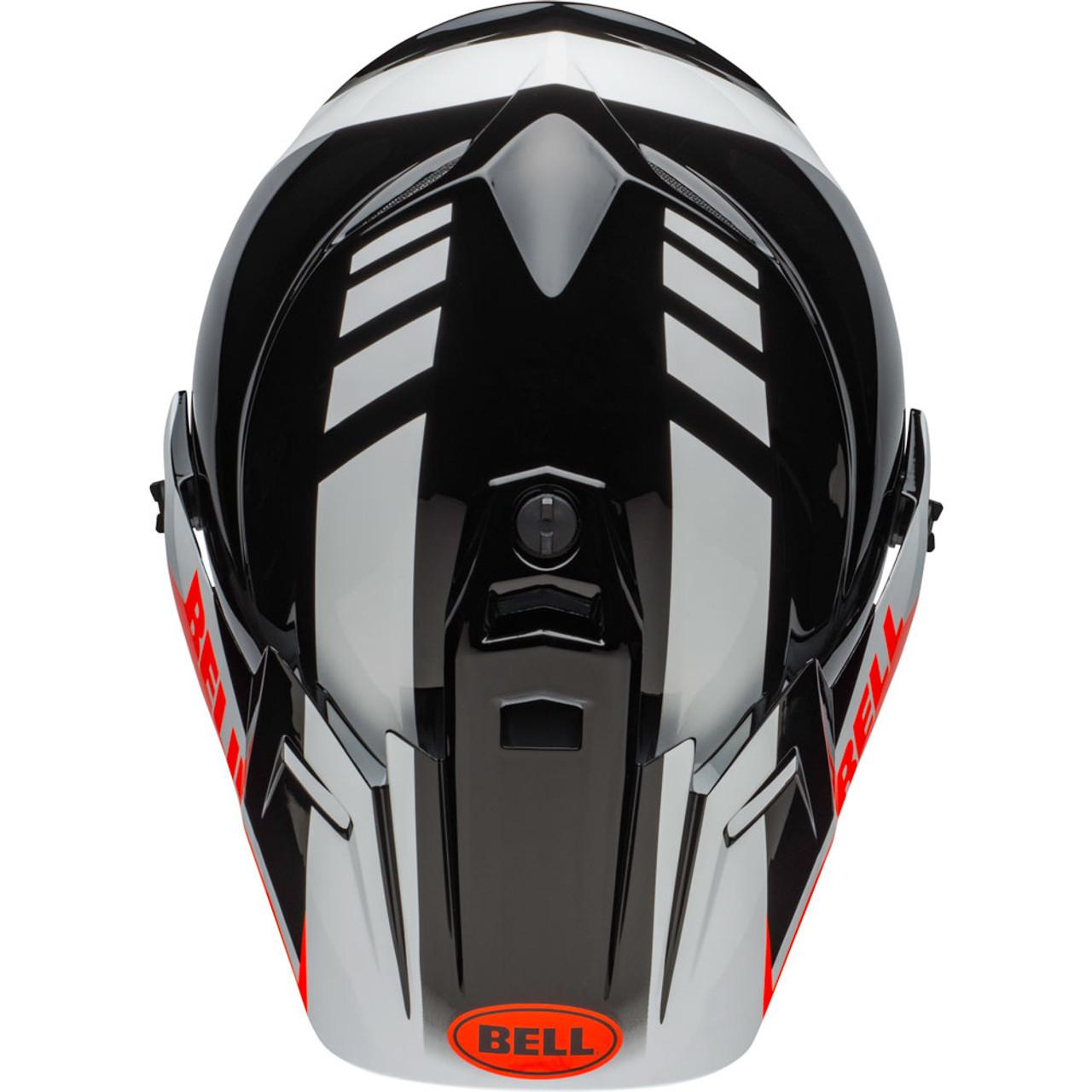 BELL HELMET MX-9 ADVENTURE MIPS DASH BLACK//WHITE//ORANGE M