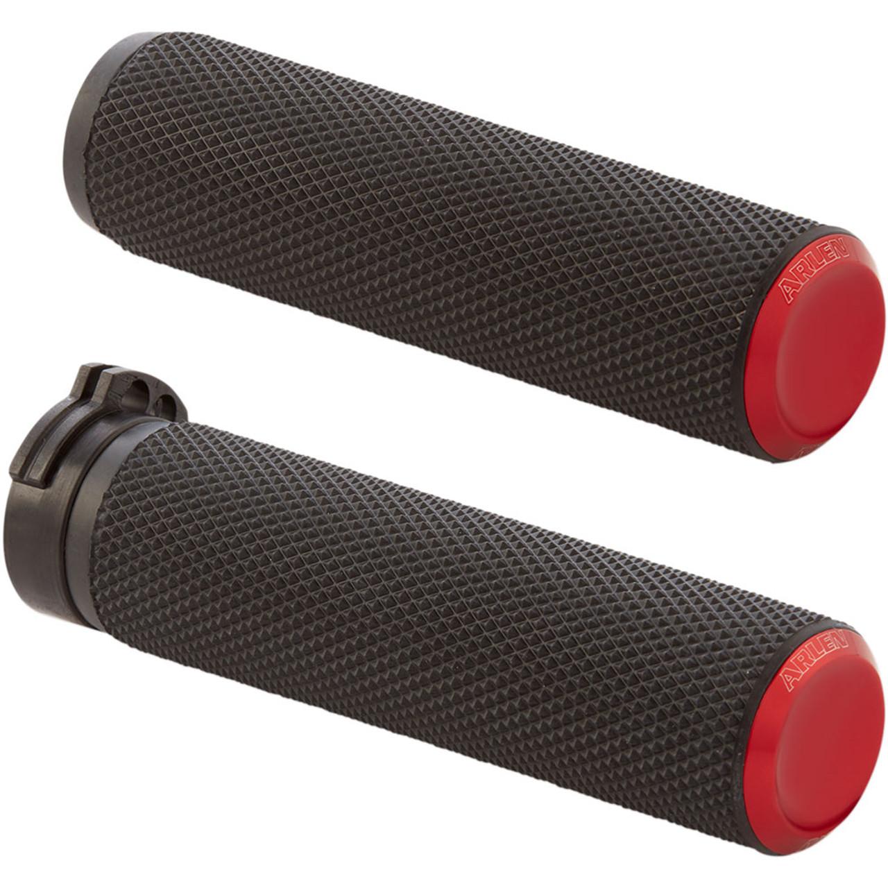 Arlen Ness Black Deep Cut Comfort Grips for Cable07-051