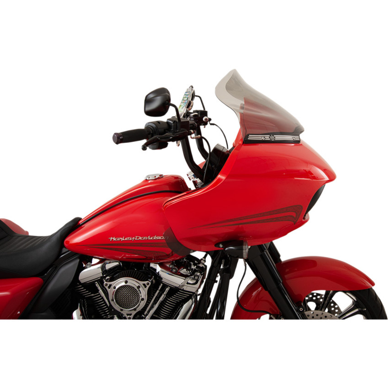 """Wind Vest 9/"""" Black Windshield Wind Screen for 2015-2020 Harley FLTR"""