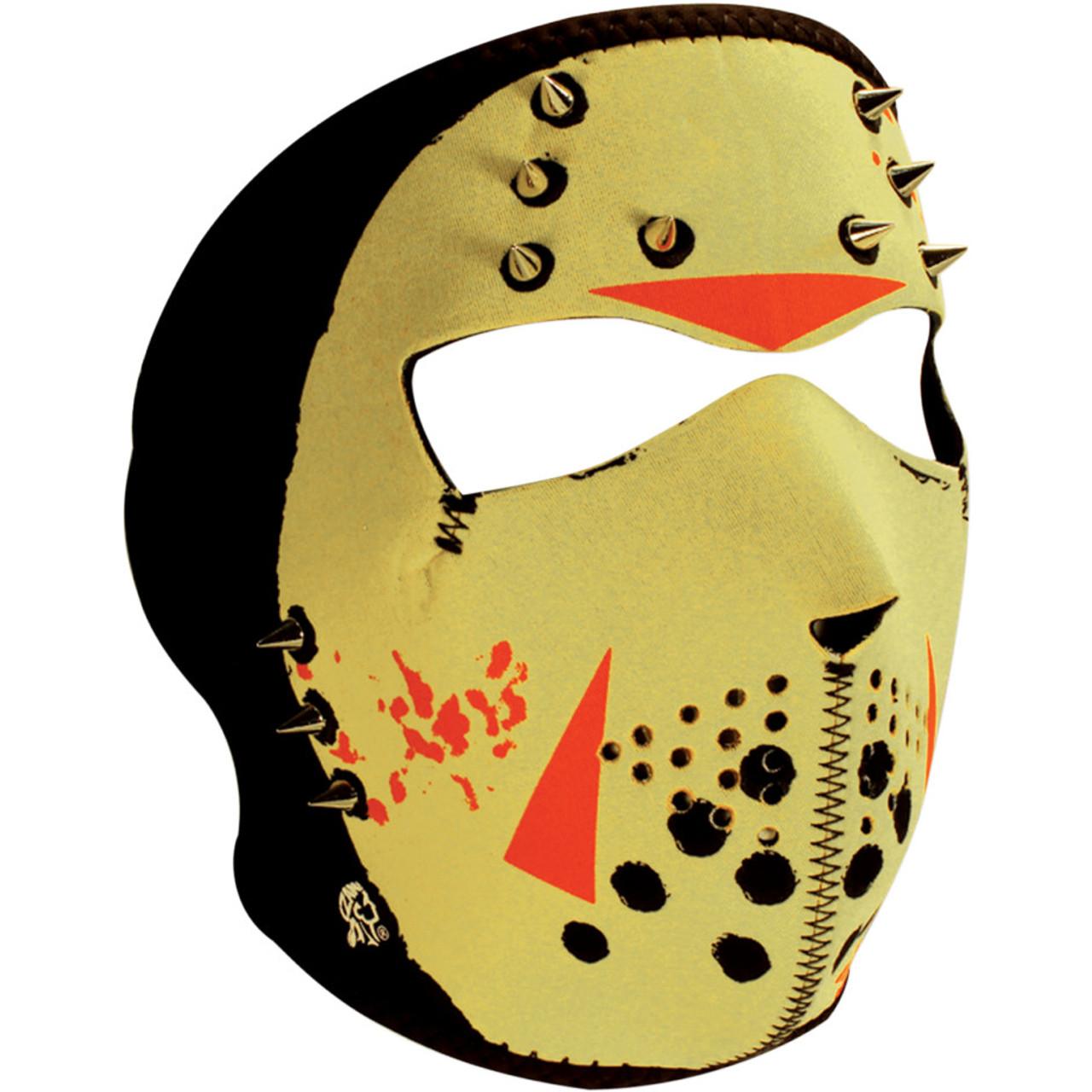 Zan Headgear Glow in the Dark Jason Face Mask