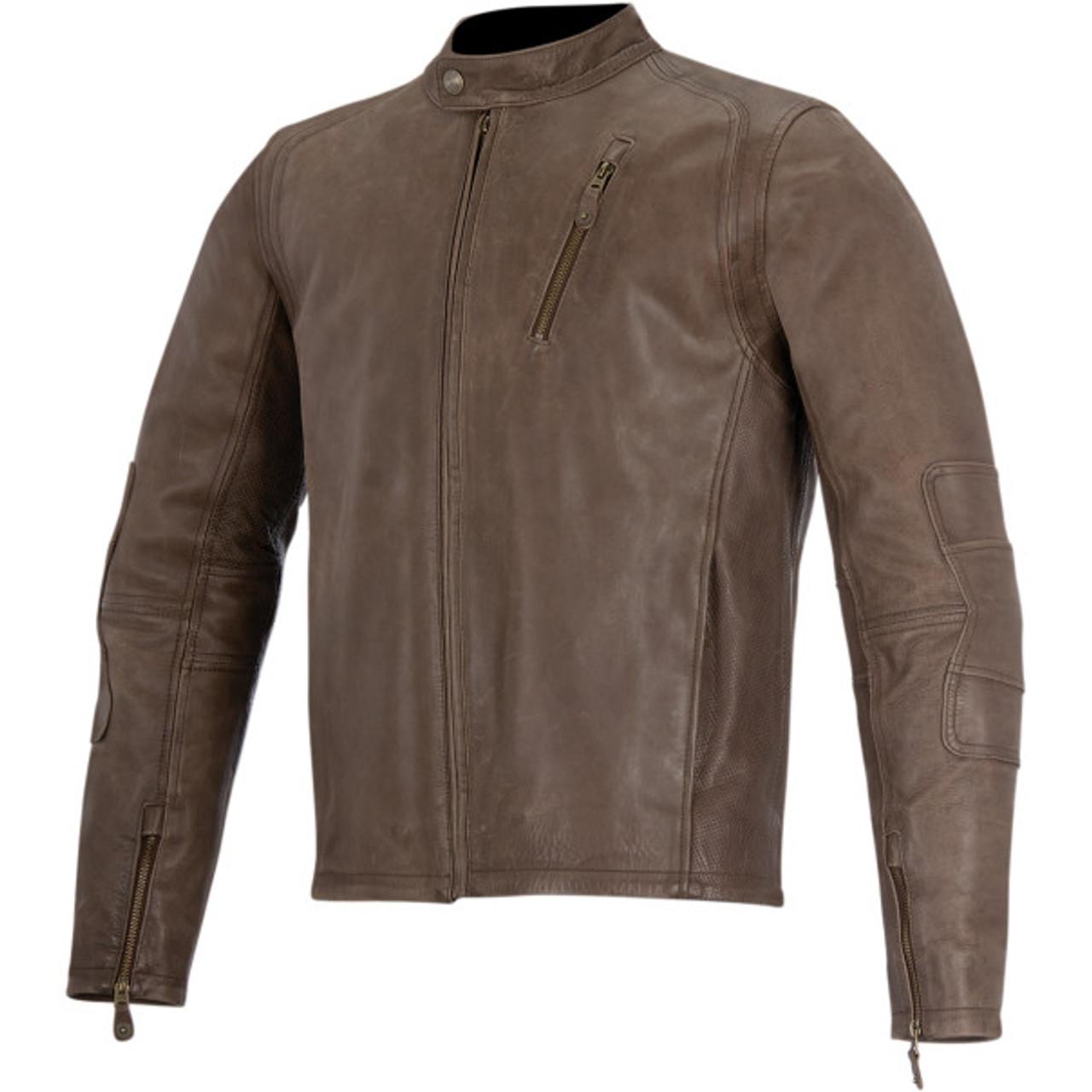 Alpinestars Leather Jacket >> Alpinestars Oscar Monty Leather Motorcycle Jacket Get Lowered Cycles