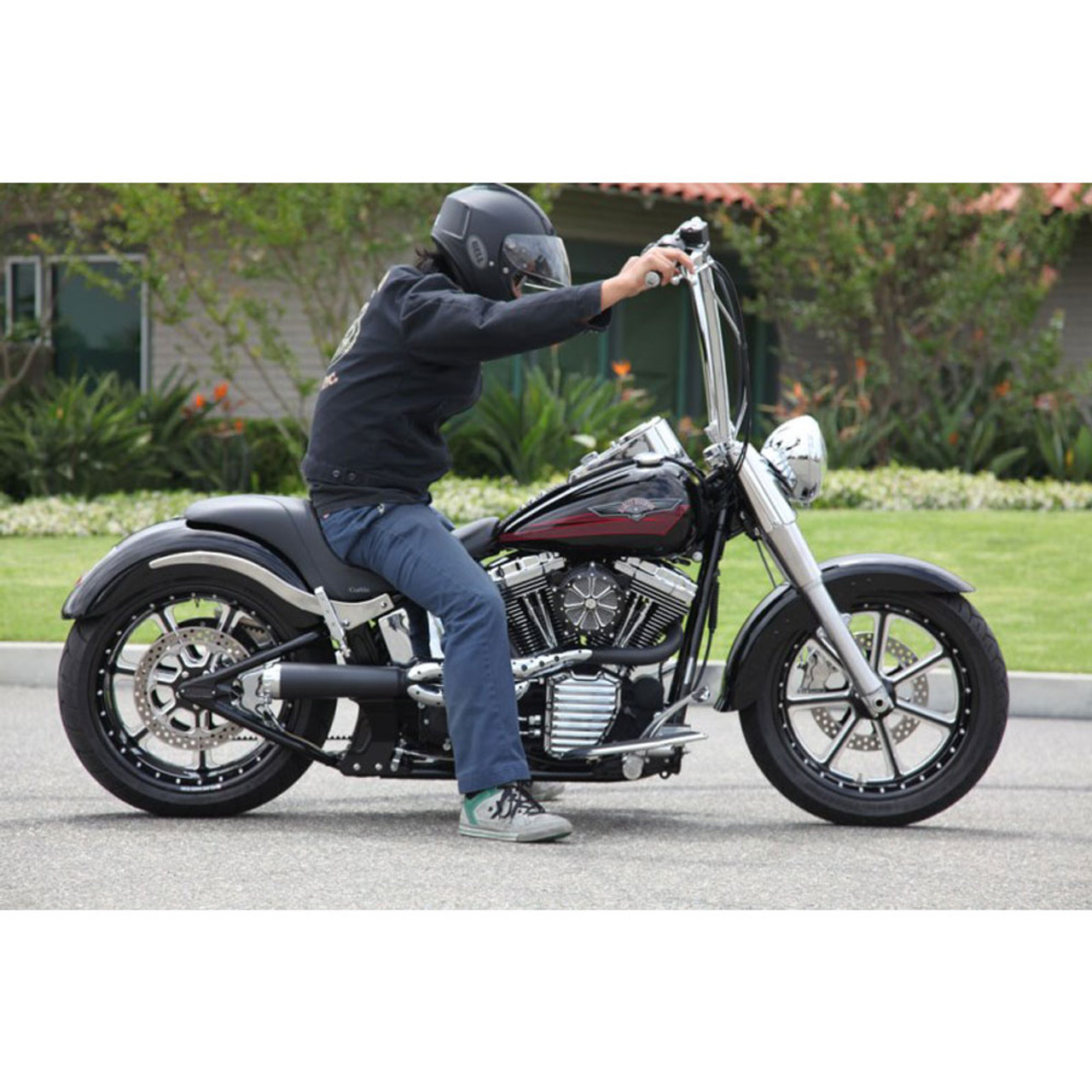 Roland Sands 1 1 4 King Ape Hangers Handlebars For Harley Get Lowered Cycles