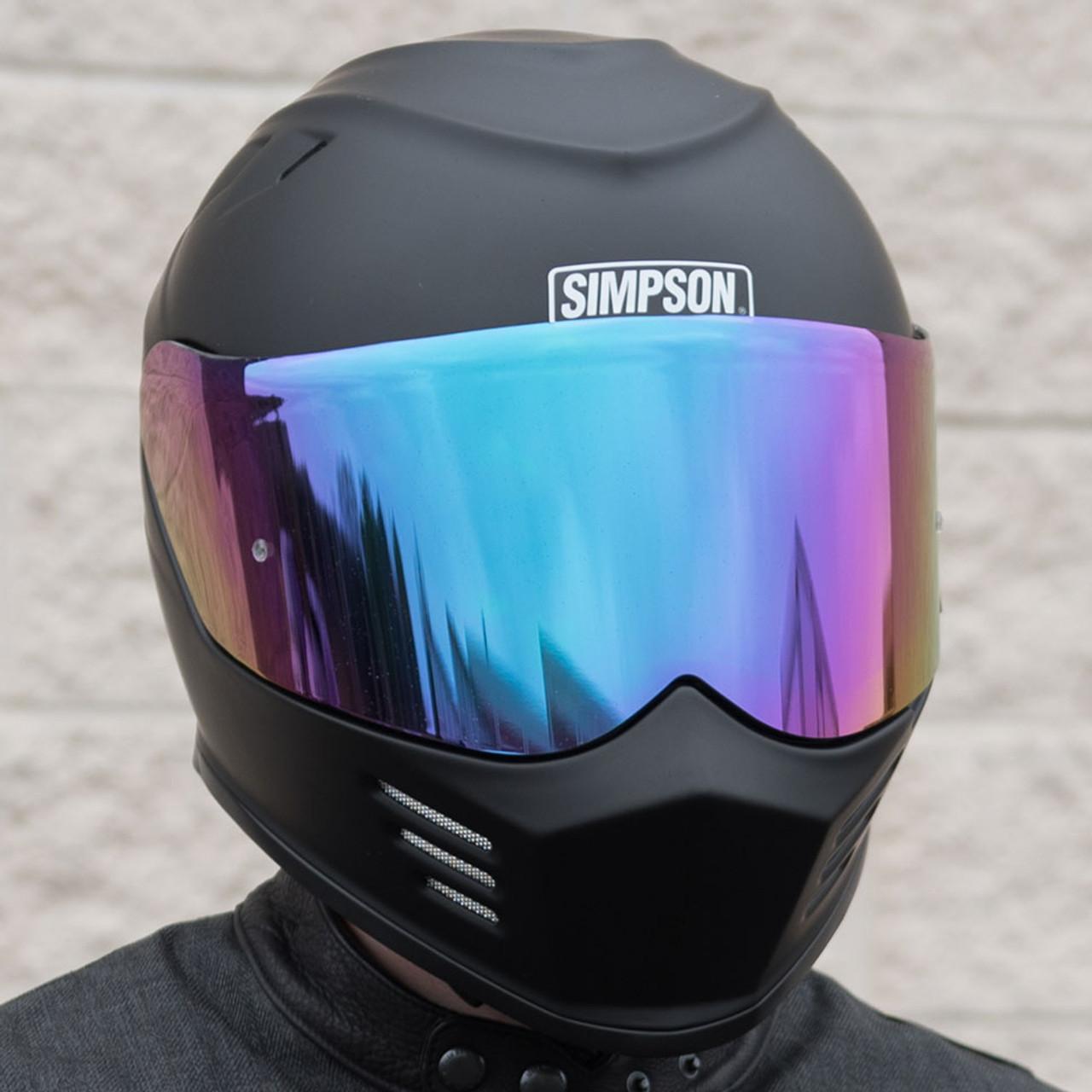 7f5e6043 Simpson Motorcycle Helmets Ghost Bandit Iridium Face Shield - GBISE ...