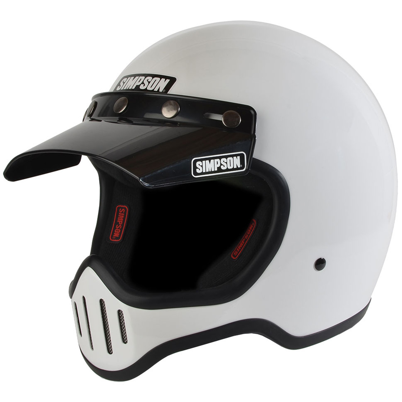 8341e89d Simpson M50 Motorcycle Helmet - White - Get Lowered Cycles