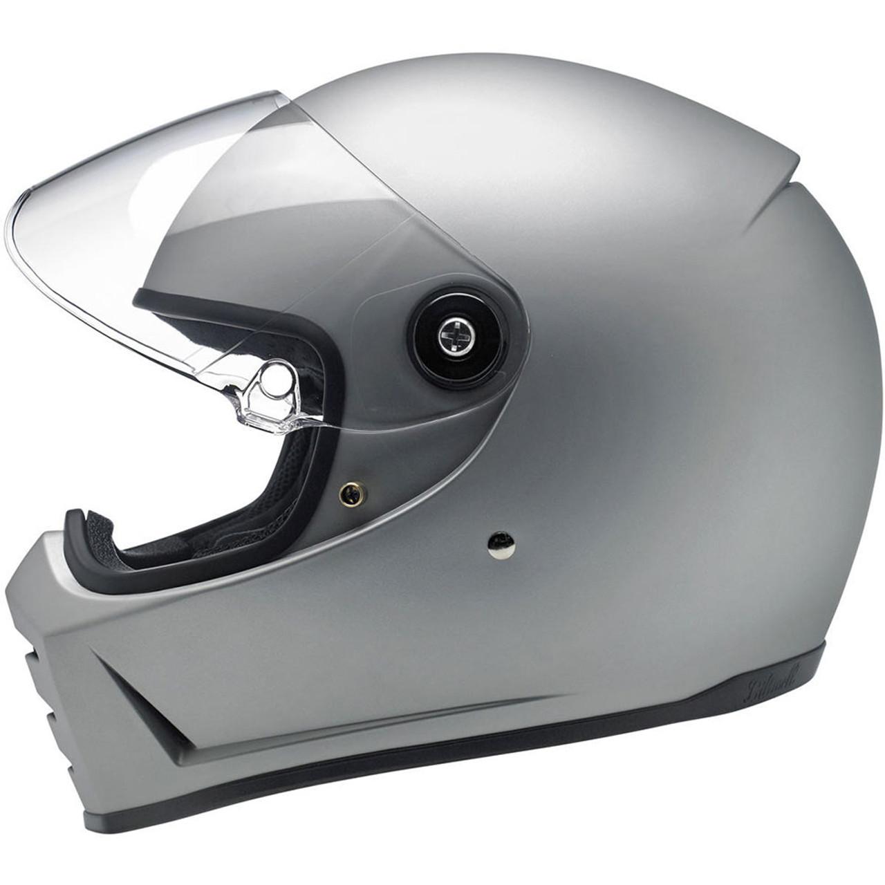 8ca6049b Biltwell Lane Splitter Helmet - Flat Silver - Get Lowered Cycles