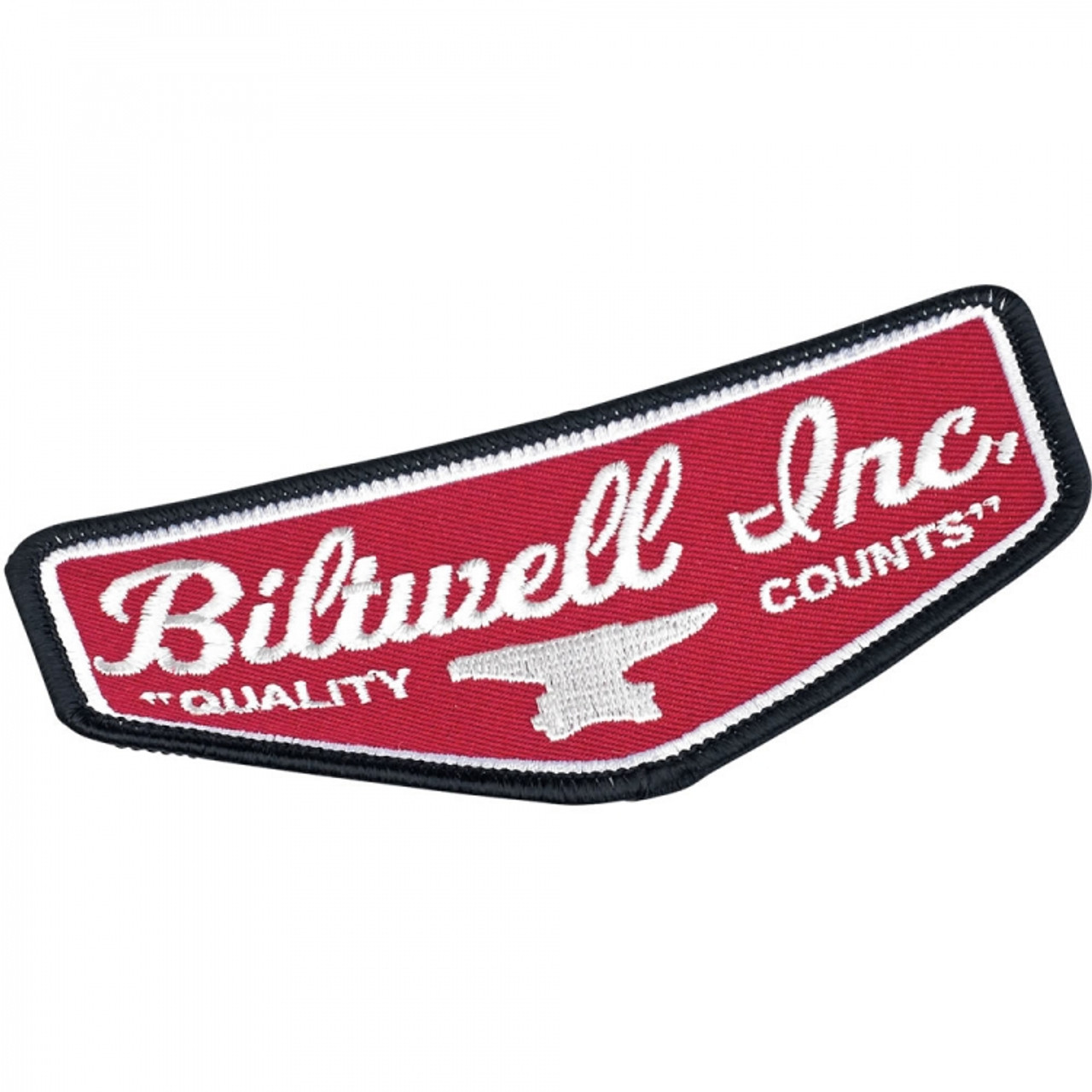 69fc4da1 Biltwell Black/Red/White Shield Motorcycle Patch - Get Lowered Cycles