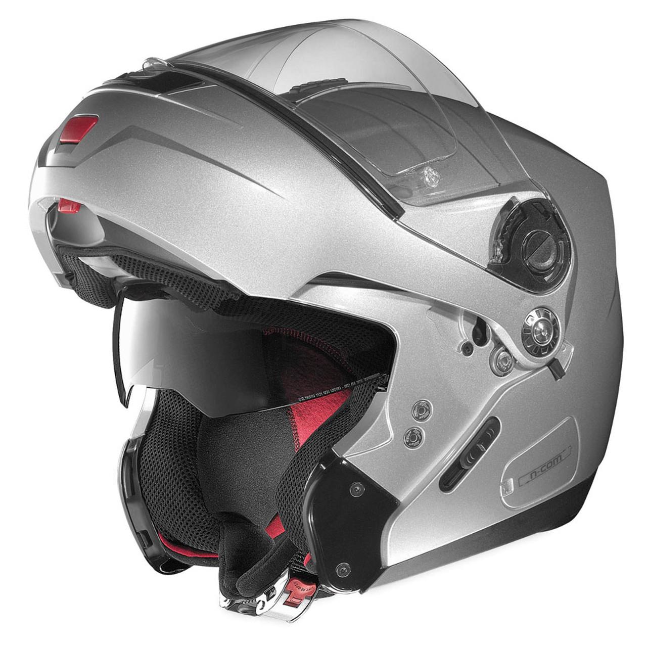 3a4d893e Nolan N91 Modular Motorcycle Helmet - Platinum Silver - Get Lowered ...