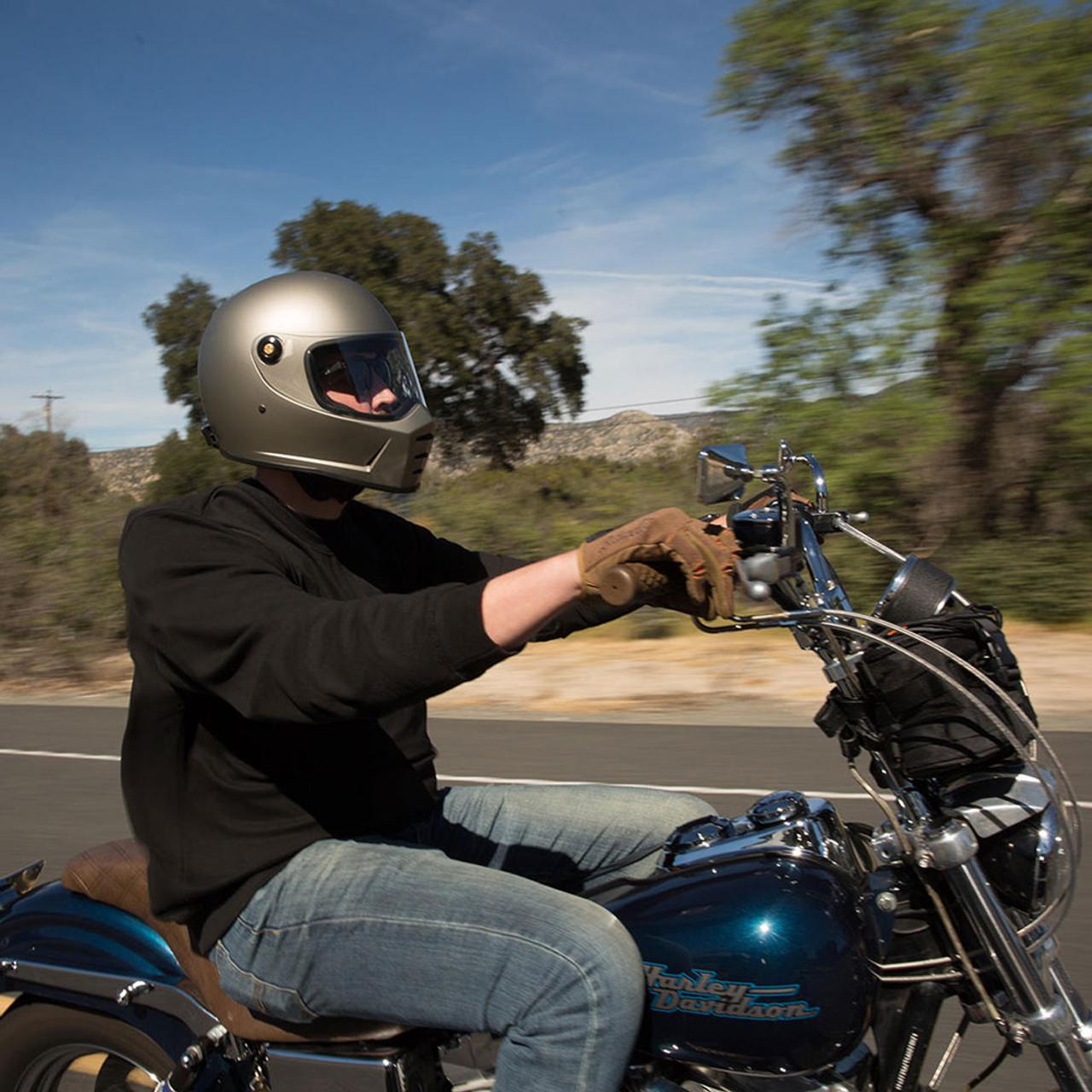 c1bbc65e Biltwell Lane Splitter Helmet - Flat Titanium - Get Lowered Cycles