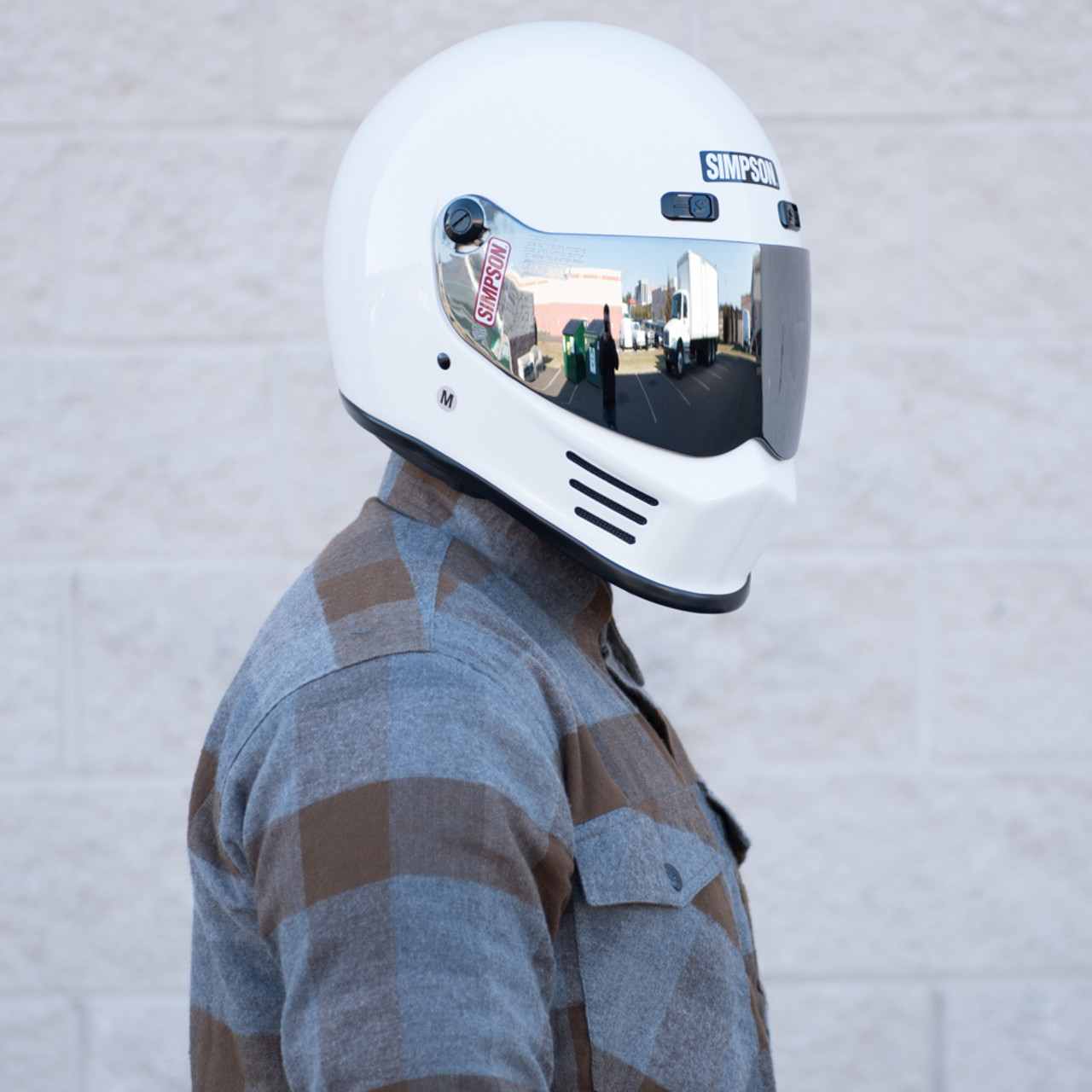 9e4cb367 Simpson Street Bandit Motorcycle Helmet - White - Get Lowered Cycles