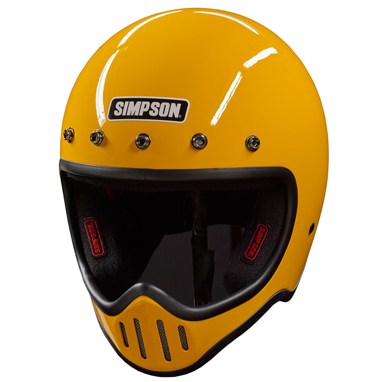 22714c44 Simpson M50 Motorcycle Helmet - Yellow - Get Lowered Cycles