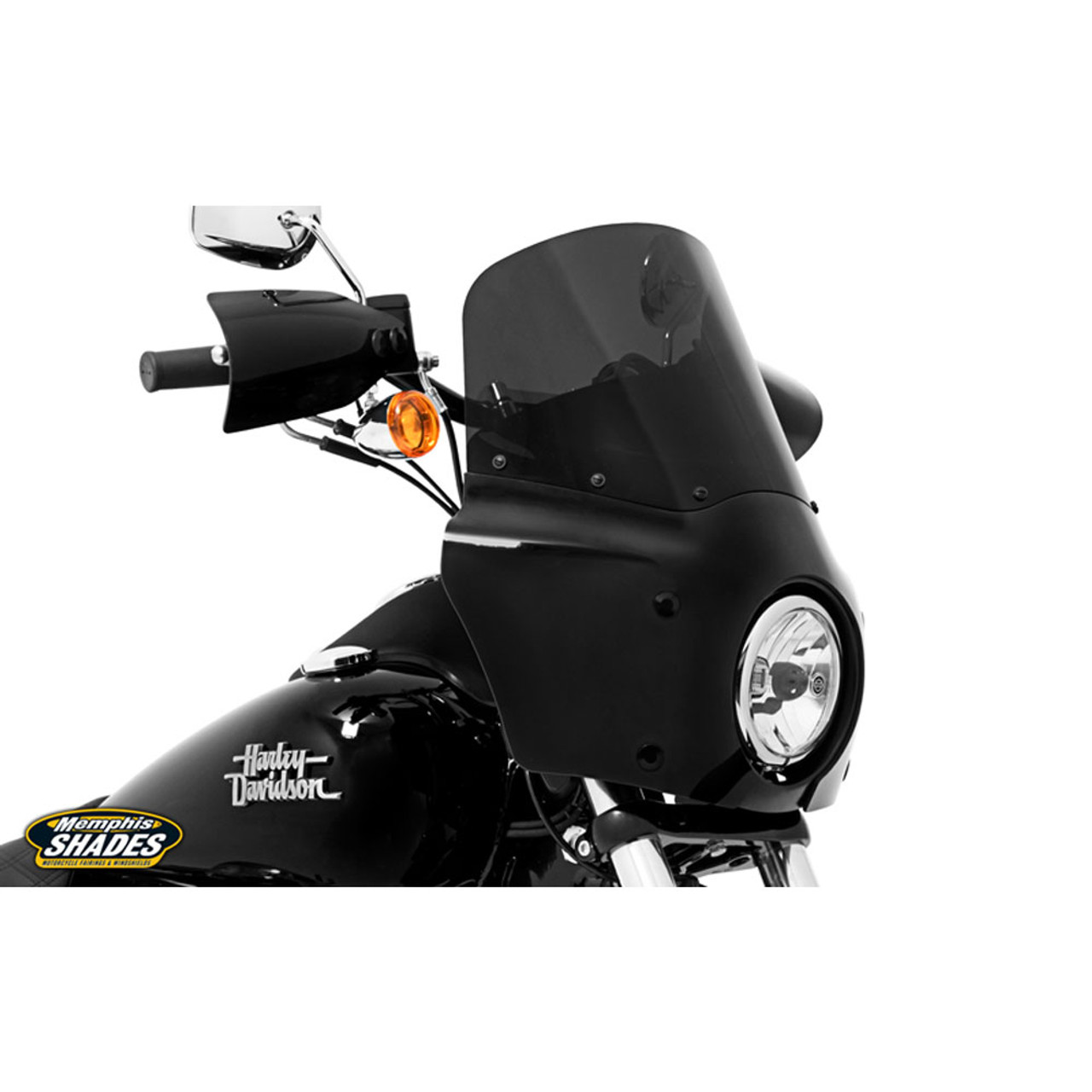 Mounting Block headlight Extension Black-Harley Davidson Dyna Street Bob GL...